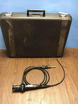 Olympus CYF-3 Fiber Optic Cystoscope in Case - Engineer's Report : Optical System - Bad Fluid Stain and Approximately 30 Broken Fibers, Angulation - S