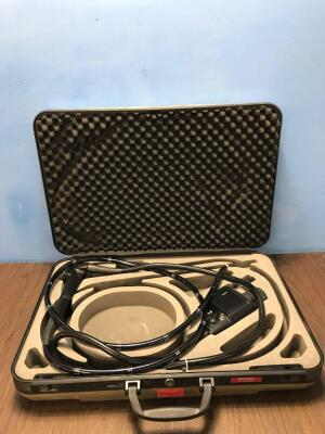 Pentax EC-3880LK Flexible Colonoscope In Carry Case - Engineer's Report : Optical System - Untested Due to No Processor, Angulation - Slightly Short o