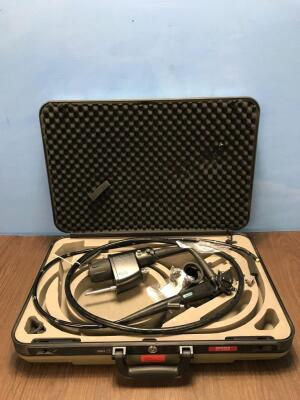 Pentax EG-2980K Video Gastroscope In Carry Case - Engineer's Report : Optical System - Untested Due to No Processor, Angulation - Severe Crush Mark in