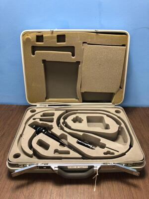 Olympus BF Type P10 Bronchoscope in Carry Case - Engineer's Report : Optics- 1 Grey Fibre, Minor Fluid Stretch Across Image, Angulation - Not Reaching