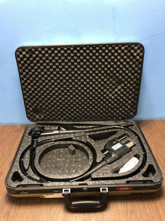 Pentax EC-3885LK Video Colonoscope in Carry Case - Engineer's Report : Optics -Untested Due to No Processor, Angulation- Not Reaching Specification, I