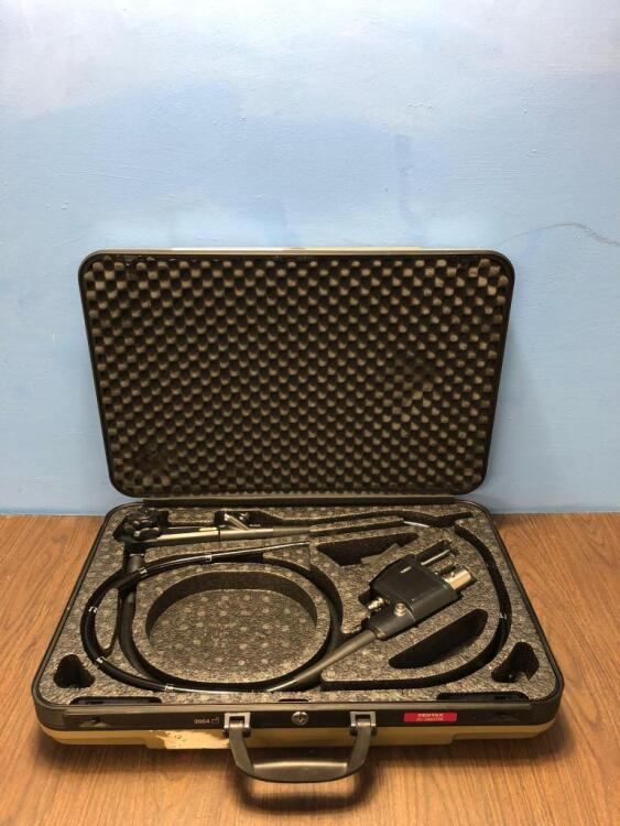 Pentax EC-3885TFK Video Colonoscope in Carry Case - Engineer's Report : Optics Untested Due to No Processor -, Angulation - No Fault Found , Insertion