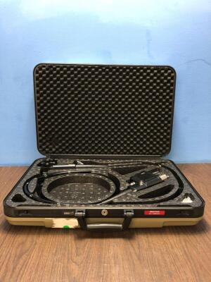 Pentax EC-3885LK Video Colonoscope in Carry Case - Engineer's Report : Optics -Untested Due to No Processor, Angulation- Small Break Needs Service, In
