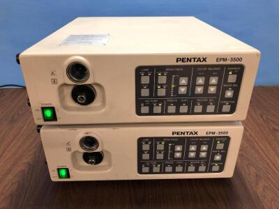 2 x Pentax EPM-3500 Light Source (Both Power Up)