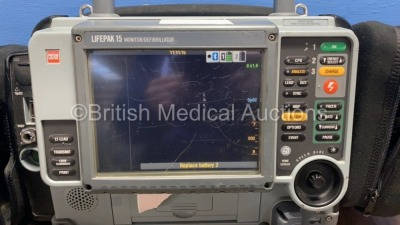 Medtronic Physio-Control Lifepak 15 12-Lead Monitor / Defibrillator *Mfd - 2010* Ref - 99577-000025 P/N - V15-2-000030 Software Version - 3207410-008 - 2