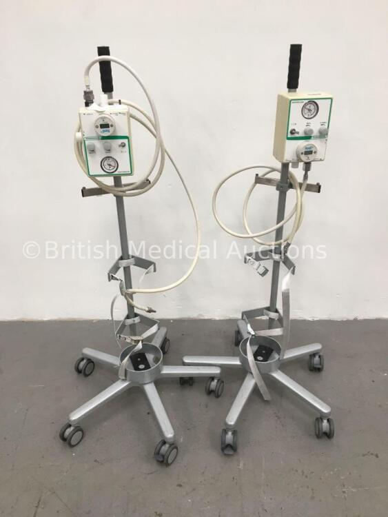 2 x Intersurgical Interflow Units on Stands with Hoses