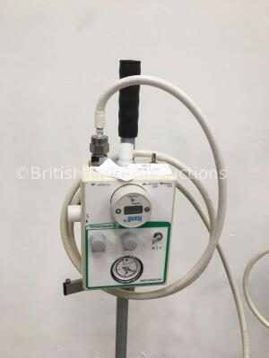 2 x Intersurgical Interflow Units on Stands with Hoses - 3