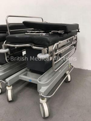 2 x Anetic Aid QA2 Hydraulic Patient Trolleys with Mattresses (Hydraulics Tested Working) - 2