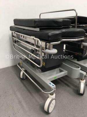 2 x Anetic Aid QA2 Hydraulic Patient Trolleys with Mattresses (Hydraulics Tested Working) - 3