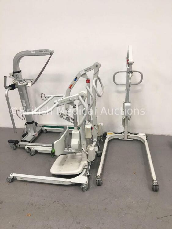 2 x Liko UNO 102 Electric Patient Hoists, 1 x Liko Golvo 7007 ES Electric Patient Hoist and 1 x Liko Sabina II Comfort Electric Patient Hoist (Unable
