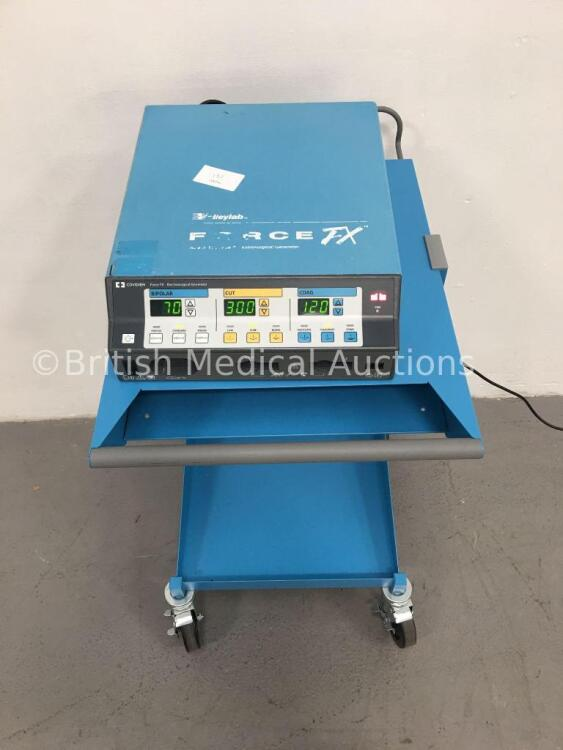 Valleylab Force FX-8 Electrosurgical/Diathermy Unit on Covidien Trolley (Powers Up) * SN F9K11548A *