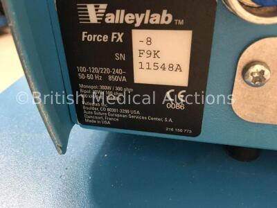 Valleylab Force FX-8 Electrosurgical/Diathermy Unit on Covidien Trolley (Powers Up) * SN F9K11548A * - 3