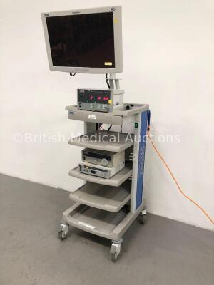 Karl Storz Stack Trolley Including Storz WideView HD Monitor, Storz SCB Electronic Endoflator 264305 20 Unit, Storz Xenon Nova 201315 20 Light Source - 5
