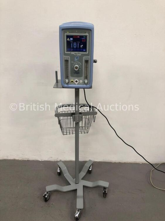 Viasys Healthcare Infant Flow SiPAP Part Number 675-CFG-004 on Stand (Powers Up) *W* * Mfd Sept 2008 *