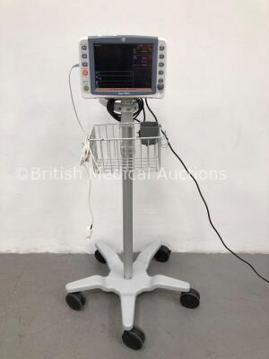 GE Dash 2500 Patient Monitor with SpO2,ECG,NIBP Options and 1 x SpO2 Finger Sensor (Powers Up) * Mfd 2010 *
