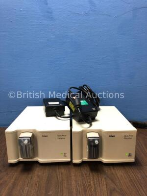 2 x Drager Scio Four Oxi Plus Gas Modules with 2 x Infinity ID Waterlock2 and 2 x AC Power Supplies (Both Power Up) *Mfd 2011 / 2006* *S/N ARXN-0044 /