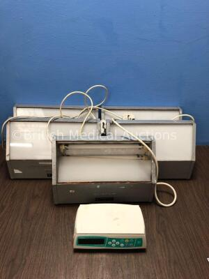 5 x Entstar Light Boxes and 1 x B-Braun Infusomat Space Syringe Pump *S/N 024159*