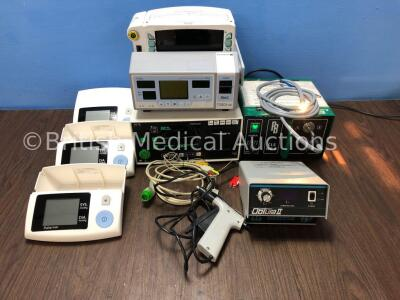 Mixed Lot Including 3 x Truly Arm Blood Pressure Monitors Model DB32, 1 x Obtura II Root Canal Treatment System with Handpiece, 1 x Oxi Pulse Pulse Ox