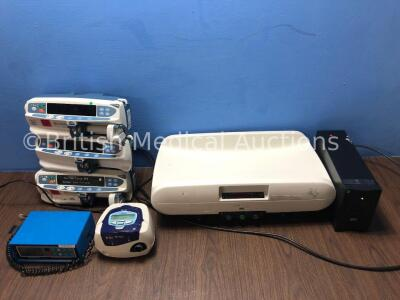 Mixed Lot Including 1 x Teledyne Electronic Devices Oxygen Meter (No Power) 3 x Carefusion Alaris CC Syringe Pumps (1 Powers Up with Alarm, 2 No Power