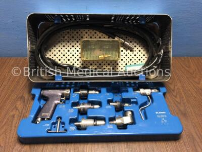 desoutter Medical MPX-500 Handpiece with Selection of Attachments and Hose in Tray