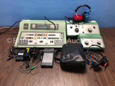 1 x Kamplex Diagnostic AD12 Audiometer with Accessories, 1 x Kamplex AS7 Screening Audiometer with Accessories, 1 x Kamplex AC30 Clinical Audiometer a