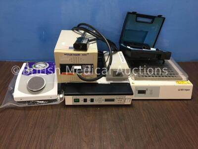 Mixed Lot Including SmartMix Cemvac Dual Vacuum Foot Pump, Mettler Toledo FBRM with PI-14/206 Probe, Atmos Battery Charger, Bedfont Micro II Smokerlyz