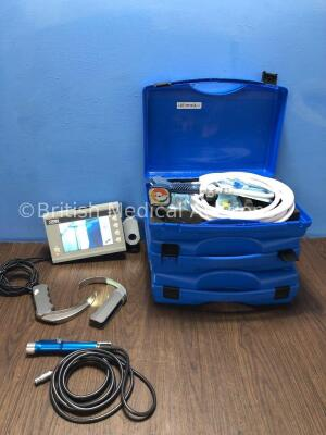 Mixed Lot Including 1 x Karl Storz 8402 ZX Laryngoscope Monitor with 2 x Karl Storz C-Mac Laryngoscope Handles (Powers Up) 1 x ConMed Linvatec Ref D99