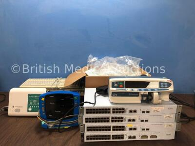 Mixed Lot Including 1 x Merlin @Home Transmitter with 1 x AC Power Supply (Powers Up) 1 x GE Carescape V100 Patient Monitor with 1 x AC Power Supply (