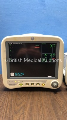 1 x GE Dash 4000 Patient Monitor Including ECG, NBP, CO2, BP1, BP2, SpO2 and Temp/co Options, 1 x GE Dash 4000 Patient Monitor Including ECG, NBP, CO2 - 2