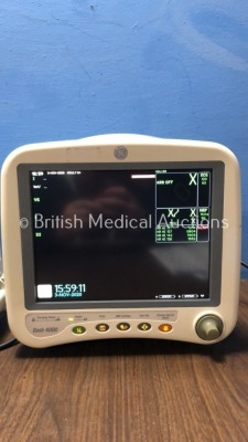 1 x GE Dash 4000 Patient Monitor Including ECG, NBP, CO2, BP1, BP2, SpO2 and Temp/co Options, 1 x GE Dash 4000 Patient Monitor Including ECG, NBP, CO2 - 4
