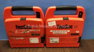 2 x FirstSave 9200D Defibrillators (Both Untested Due to No Batteries)
