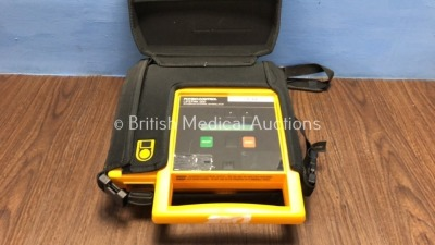 Physio Control Lifepak 500 Automated External Defibrillator with Carry Bag (Powers Up when Tested with Stock Battery - Not Included)