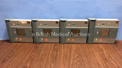 2 x Forerunner and 2 x Hewlett Packard Heartstream Semi-Automatic Defibrillators with 1 x Battery (Untested Due to Flat Battery)