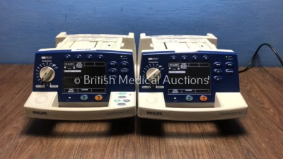 1 x Philips HeartStart XL Smart Biphasic Defibrillator with Pacer,ECG and Printer Options and 1 x Philips HeartStart XL Smart Biphasic Defibrillator w