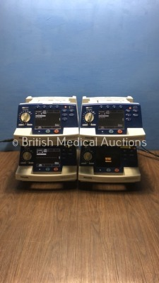 4 x Philips HeartStart XL Smart Biphasic Defibrillators with ECG and Printer Options (3 x Power Up, 1 x Powers Up with Defib Failure/Error) * SN US004