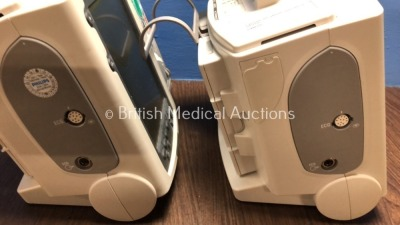 2 x Philips Heartstart MRx Defibrillators Including Pacer, ECG and Printer Option with 2 x Philips M3539A Batteries, 2 x Philips M3538 Module, 2 x Pad - 5
