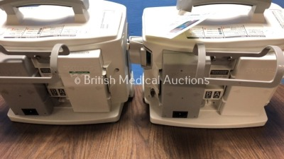 2 x Philips Heartstart MRx Defibrillators Including Pacer, ECG and Printer Option with 2 x Philips M3539A Batteries, 2 x Philips M3538 Module, 2 x Pad - 6