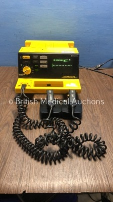 Hewlett Packard CodeMaster XL Defibrillator with ECG and Printer Options and 1 x External Hard Paddles (Powers Up)