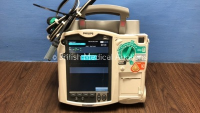 Philips Heartstart MRx Defibrillator Including Pacer, ECG and Printer Option with 1 x Philips M3539A Batteries, 1 x Philips M3538 Module, Base for Ha