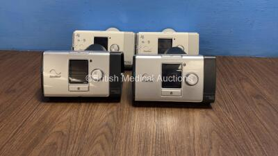 Job Lot Including 2 x ResMed Lumis 100 VPAP S CPAPs (1 x Powers Up with Stock Power Supply, Power Supply Not Included, Both Missing Humidifier Chambers - See Photo) and 2 x ResMed AirSense 10 Autoset for Her CPAPs (Both Power Up with Stock Power Supplies,