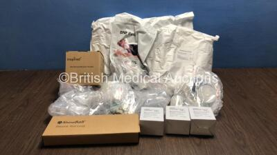 Cage of Mixed Respiratory Consumables Including Breathing Circuits, CPAP Masks, Humidification Chambers, Breathing Circuit Bacterial Filters and Silicone Lungs (Majority in Date) *Cage Not Included*
