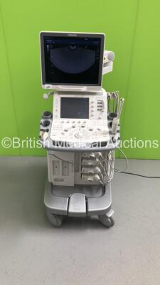 Toshiba Aplio 500 TUS-A500 Flat Screen Ultrasound Scanner *S/N T1E1323856* **Mfd 02/2013* Software Version V3.00*R002 with 4 x Transducers / Probes (PVT-661VT *Mfd 01/2007* / PVT-375BT *Mfd 2010* / PLT-1204BT *Mfd 03/2012* and PVT-674BT *Mfd 01/2006*) (Po