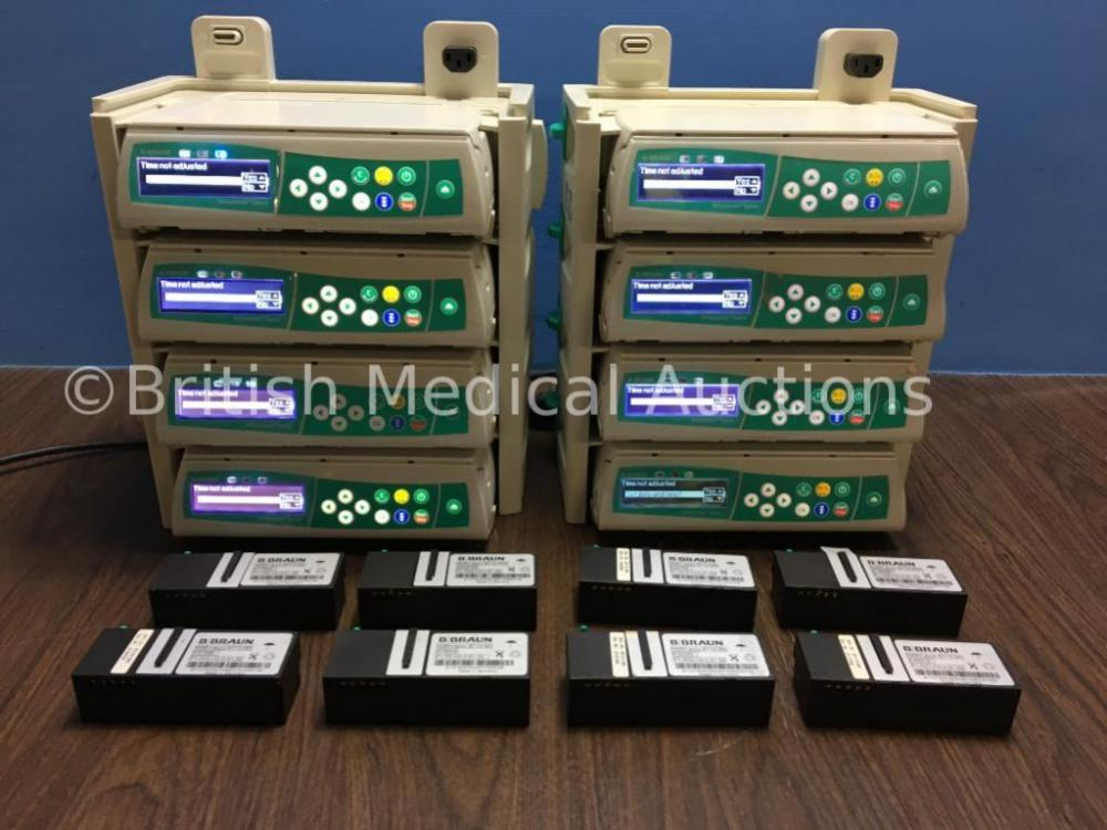 8 x B Braun Infusomat Space Infusion Pumps with Batteries and 2 x B