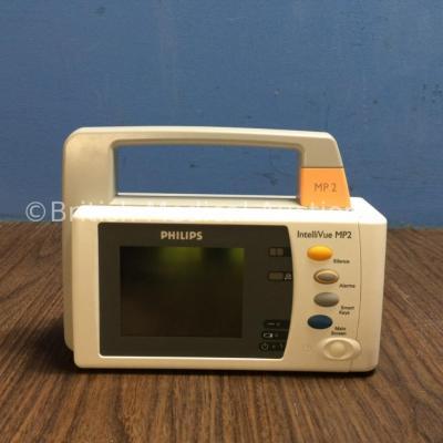 Philips IntelliVue MP2 Portable Patient Monitor Including ECG, SpO2