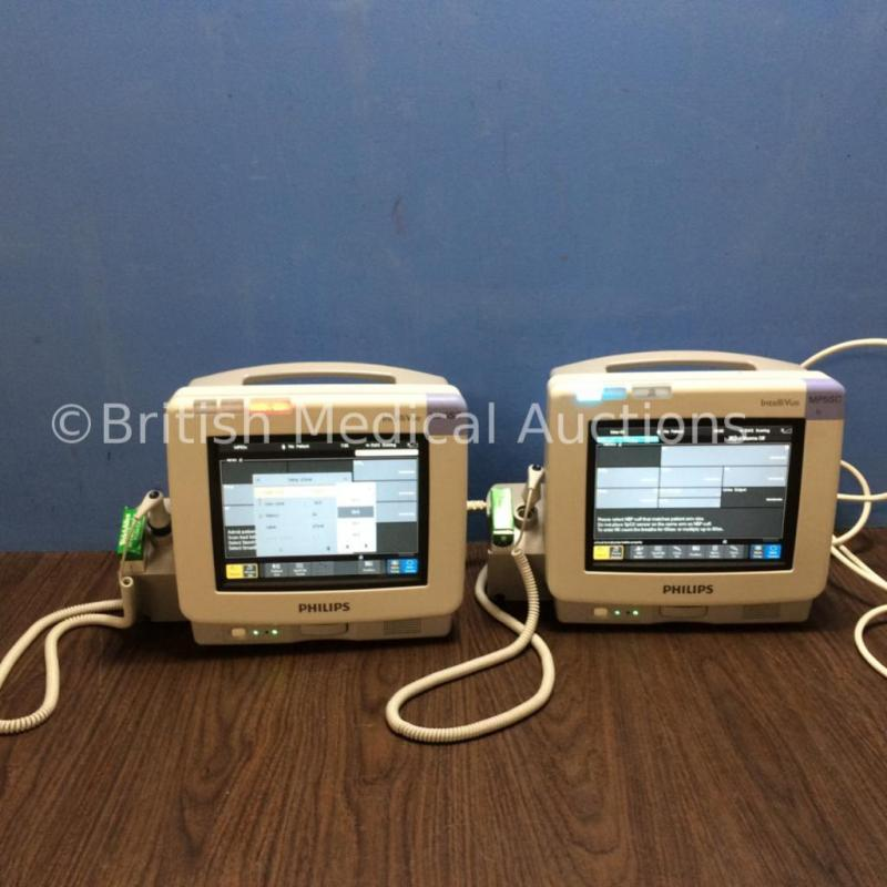 2 x Philips IntelliVue MP5SC Spot Check Touch Screen Patient