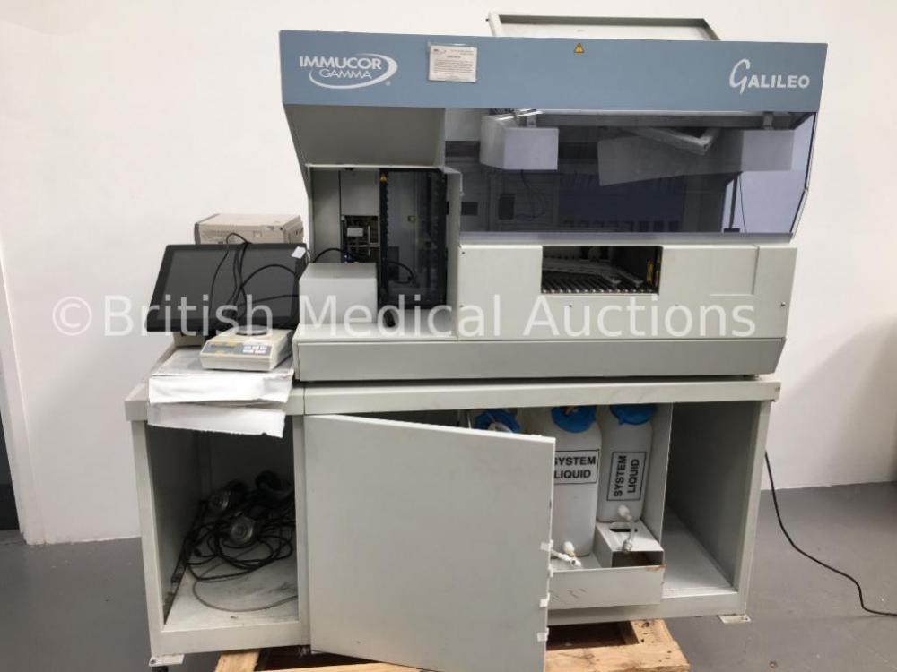 Galileo Immucor Gamma Model No 40 42091 65000 Automated
