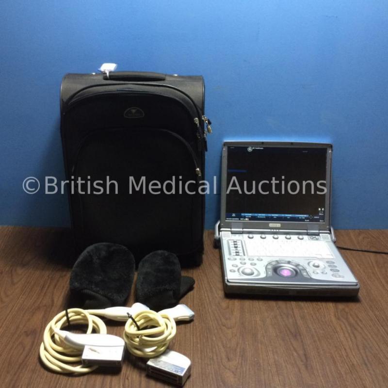 GE Logiq E Portable Ultrasound *S/N 89909WX6 - Mfd - 05/2008